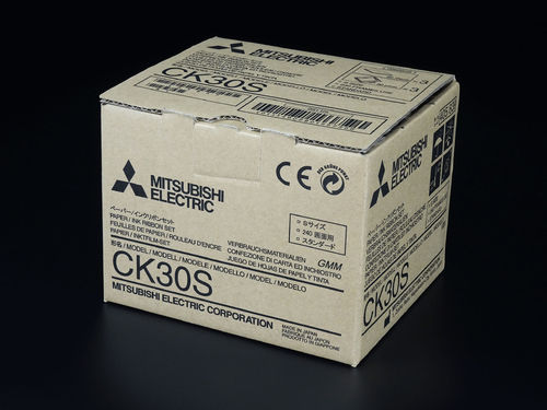 Mitsubishi Paper/Ink Ribbon Set CK30S
