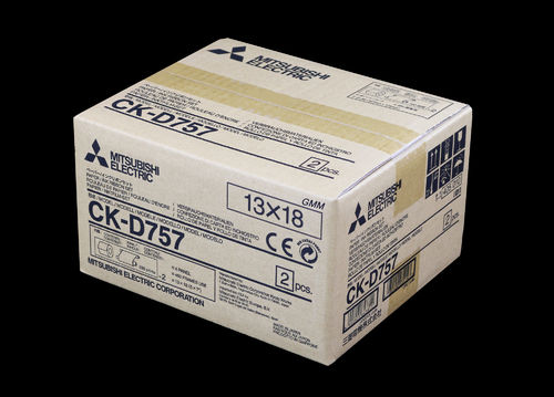 Mitsubishi Paper/Ink Ribbon Set CK-D757