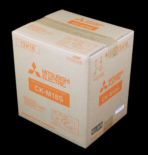 Mitsubishi Paper/Ink Ribbon Set CK-M18S